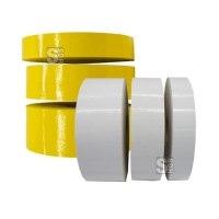 Bodenmarkierungsband -ExtremG- staplerüberfahrbar, glatt, Rolle 50 m - für Innen- und Außeneinsatz, gelb oder weiß
