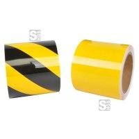 Bodenmarkierungsband -WT-5229-, Breite 100 mm, Länge 15 oder 30 m, schmutz- und chemikalienresistent, für den Lebensmittelbereich geeignet
