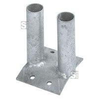 Bodenplatte aus feuerverzinktem Stahl