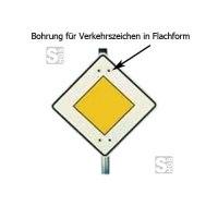 Bohrung für Verkehrszeichen in Flachform