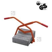 Bordsteinzange -B1504-, Tragkraft 150 kg, Öffnungsweite bis 380 mm, lackiert oder verzinkt