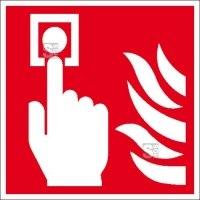 Brandschutzschild, Brandmelder (manuell)