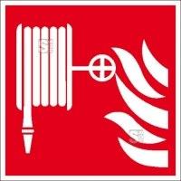 Brandschutzschild, Löschschlauch