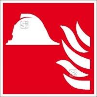 Brandschutzschild, Mittel und Geräte zur Brandbekämpfung