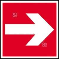Brandschutzschild, Richtungsangabe gerade