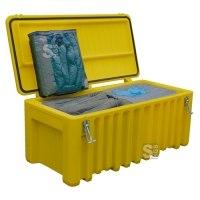 Cemsorb Bindemittel Notfallbox, Aufnahme 250 Liter, inkl. Schlängel, Tücher und Zubehör