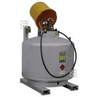 Dieseltankstation -CEMO DT-Mobil- Mobilpaket, 980 Liter, einwandig, lackiert