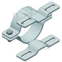 Doppel-Rohrschellen für Flach-VZ, inkl. Schrauben und Muttern