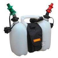 Doppelkanister -CEMO-, 3 + 6 Liter, aus HDPE, mit Satteltasche und Sicherheitseinfüllsystem