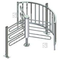 Drehkreuz -Turn 10- aus Stahl, Höhe über Flur 1000 mm, Durchlassbreite 700 mm