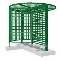 Drehkreuz -Turn 40- aus Stahl, Höhe über Flur 2430 oder 2515 mm, behindertengerecht