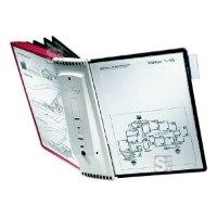Durable Sichttafelsystem Wandhalter -Sherpa® Wall 10-, inkl. 10 Sichttafeln