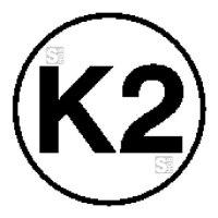 Elektrokennzeichnung / Betriebsmittelkennzeichnung, Kennzeichnung gemäß DGUV 203-005 für ortsveränderliche Betriebsmittel, K2
