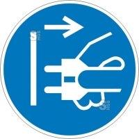 Elektrokennzeichnung / Gebotsschild, Netzstecker ziehen