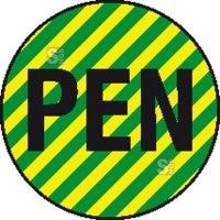 Elektrokennzeichnung / Leiterkennzeichnung, Neutralleiter (PEN)