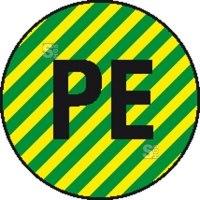 Elektrokennzeichnung / Leiterkennzeichnung, Schutzleiter (PE) selbstklebend
