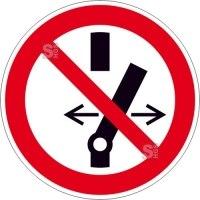 Elektrokennzeichnung / Verbotsschild, Schalten verboten