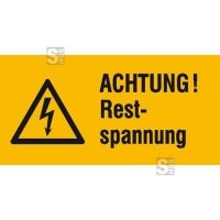 Elektrokennzeichnung / Warnkombischild, ACHTUNG! Restspannung