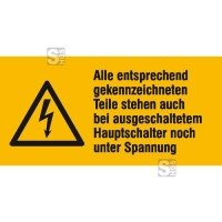 Elektrokennzeichnung / Warnkombischild, Alle entsprechend gekennzeichneten ...