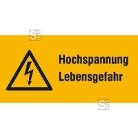 Elektrokennzeichnung / Warnkombischild, Hochspannung Lebensgefahr
