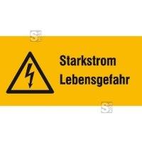 Elektrokennzeichnung / Warnkombischild, Starkstrom Lebensgefahr