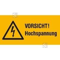 Elektrokennzeichnung / Warnkombischild, VORSICHT! Hochspannung