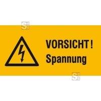 Elektrokennzeichnung / Warnkombischild, VORSICHT! Spannung