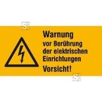 Elektrokennzeichnung / Warnkombischild, Warnung vor Berührung der elektrischen Einrichtungen ...