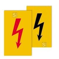 Elektrokennzeichnung/ Warnschild -Protect-, selbstklebend, Spannungszeichen