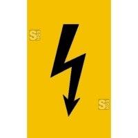 Elektrokennzeichnung / Warnschild, Spannungszeichen (schwarzer Blitz)