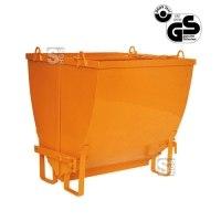 Erd- und Schuttaufzugskübel -E1043-, 250-2000 Liter, mit Haken oder angeschweißter Kette