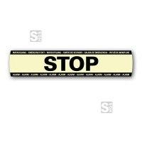 Ersatz-Aufkleber -STOP- für Fluchttürsicherung -DEXCON-