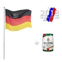 Fahnenmast WM-Komplett-Set inkl. Flagge und Bierfass