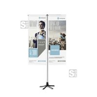Fahnenständer -TEMPAFLAG DOUBLE-, mobil und höhenverstellbar für 2 Flaggen