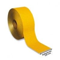 Fahrbahnmarkierungsfolie Dünnschicht, gelb, 150 mm, reflektierend und selbstklebend