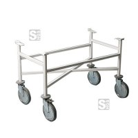 Fahrgestell für Krankentragen aus Stahl, 1060 x 700 x 570 mm