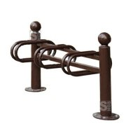 Fahrradständer -Bowl- aus Stahl, einseitige Radeinstellung