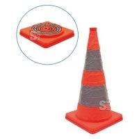 Faltleitkegel -Cone-, Höhe 600 mm, retroreflektierend mit integriertem Blinklicht