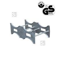 Fasspalette -F2261- aus Stahl, Tragkraft 600 kg, für 2 Fässer, 670 x 390 x 1200 mm, GS-geprüft
