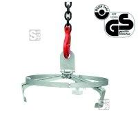 Fasstraverse -F2221- aus Stahl, für Fässer mit Ø bis 540 mm, Tragkraft 300 kg, GS-geprüft