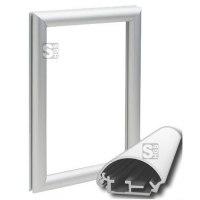 Fensterklapprahmen -KRW27-, Rahmenbreite 27 mm, mit spitzen Ecken und Konterrahmen