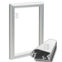 Fensterklapprahmen -KRW32-, Rahmenbreite 32 mm, mit spitzen Ecken und Konterrahmen