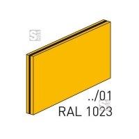 Fertigschild -Thermograv®- blanko für Schilderträger aus Stahl oder Alu, zum Einschieben