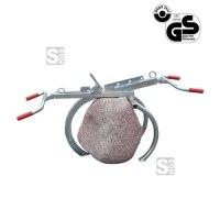 Findlingversetzzange -F1535-, Tragkr. 200kg, Öffnung 0-850mm, Einhängeöse, lackiert oder verzinkt