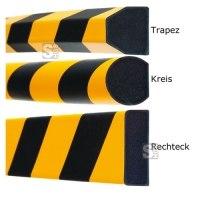 Flächenschutz -Safe- aus PU, Länge 1000 mm, verschiedene Profile, wahlweise selbstklebend, magnetisch oder zum Aufdübeln, hochwertig und flexibel