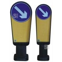 Flexibake für Verkehrsinsel, Kunststoff, H 900 oder 1000 mm, rechts- o. linksweisend, überfahrbar