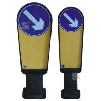 Flexibake für Verkehrsinsel aus Kunststoff, Höhe 900 oder 1000 mm, rechts- oder linksweisend, überfahrbar