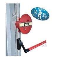 Fluchttürsicherung -DEXCON-, Elektr. Alarm für auftragende Schubstangen, nach DIN EN 179 / 1125