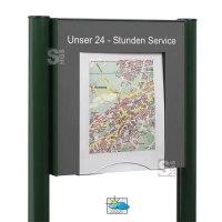 Flyer-Box für DIN A4 Formate, zur Selbstbedienung, mit Sicherheitsschloss