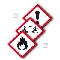GHS-Gefahrstoffsymbole -Protect-, Einzeletiketten (selbstklebend), verschiedene Größen